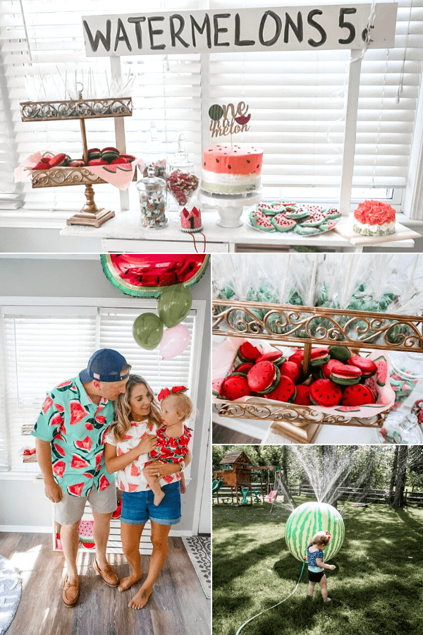 Watermelon party for baby's first birthday.