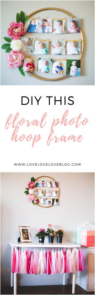 DIY floral photo frame