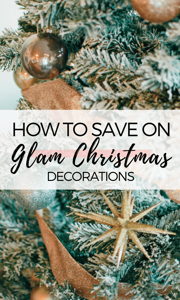 Lifestyle and motherhood blogger Jessica shares how to get gorgeous, glam Christmas decorations on a budget! Check out this mama's holiday tips and tricks!