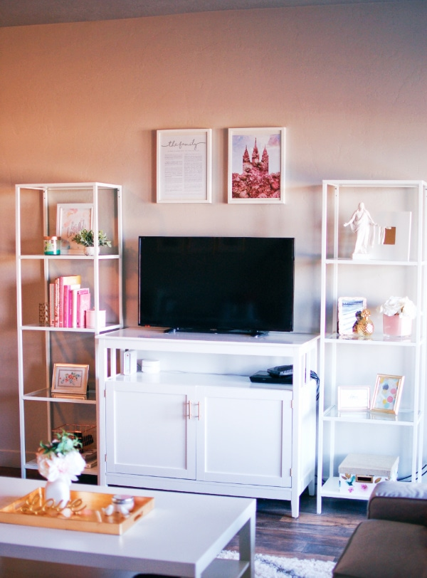 TV stand decor ideas on a budget
