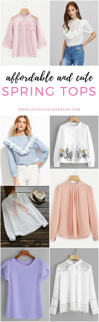 affordable cute spring tops