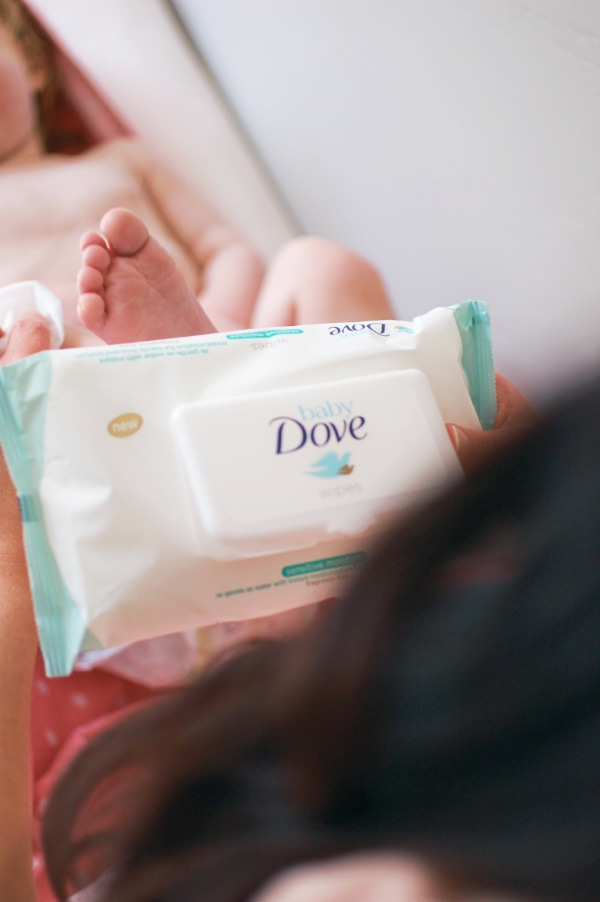 Newborn products for sensitive skin