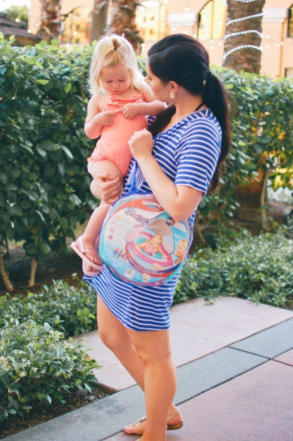 Lifestyle and motherhood blogger Jessica Ashcroft shares the best swim safety device for your next family vacation!