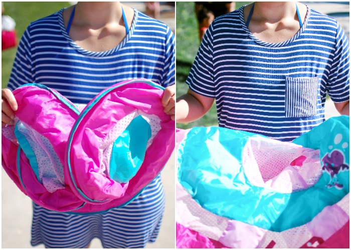 Lifestyle and motherhood blogger Jessica Ashcroft shares how to use the Swimways baby spring float this summer!