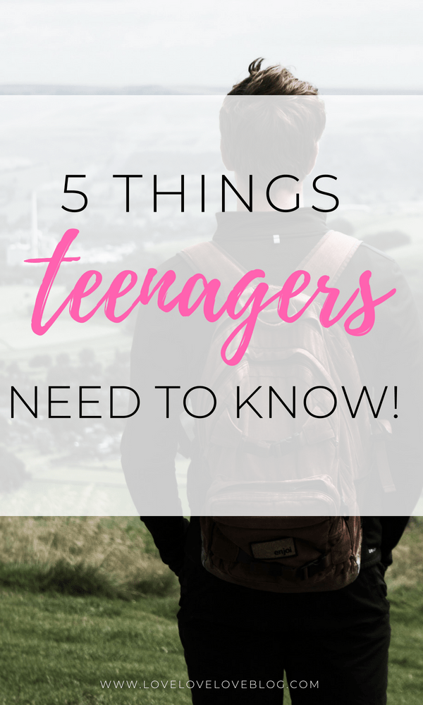 Lifestyle and motherhood blogger Jessica from Love Love Love shares tons of great advice for teenagers!