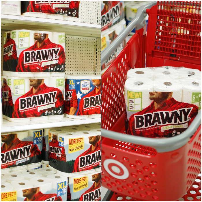 Grab some Brawny Tear-A-Square paper towels on your next Target run!