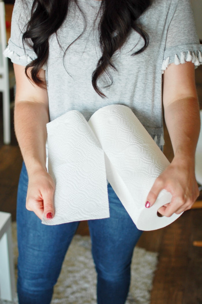Brawny Tear-A-Square paper towels have three different sizes for any size mess!