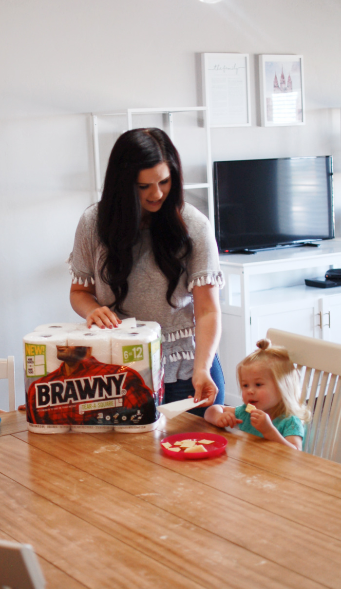 Brawny Tear-A-Square paper towels are perfect for napkins.