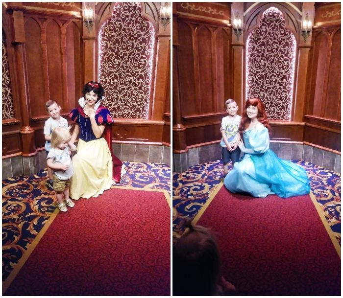 Kids with Disneyland princesses at the Royal Hall!