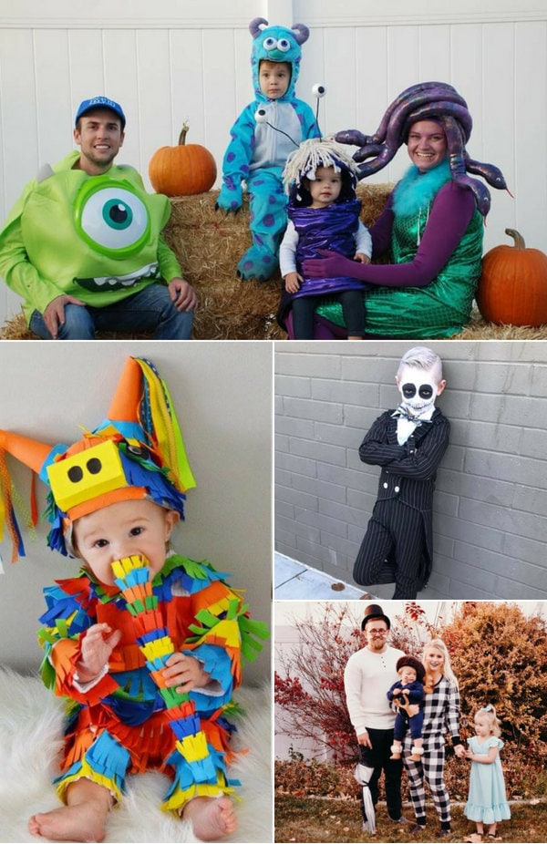 Several DIY family Halloween costume ideas