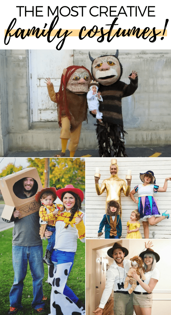These DIY family Halloween costumes are simply amazing! Check out the post for 100+ creative costume ideas and awesome Halloween costume inspiration!