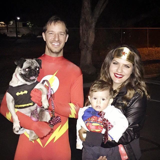 Superhero DIY family Halloween costumes