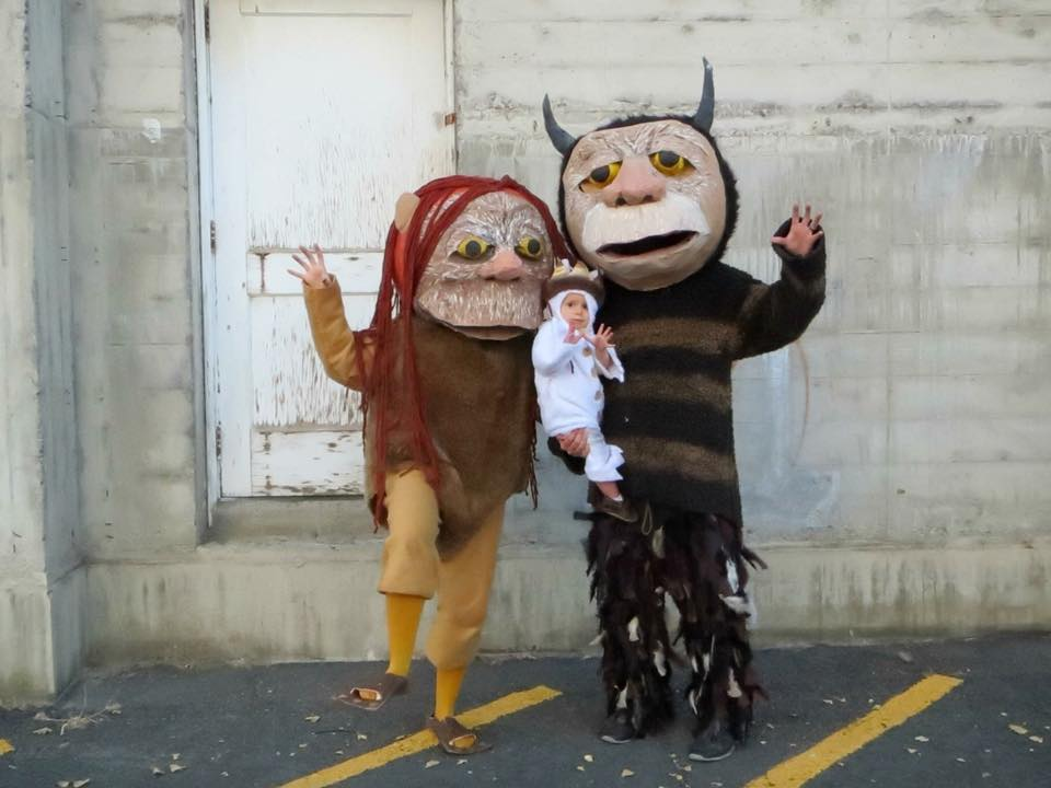 DIY Where the Wild Things Are family Halloween costumes