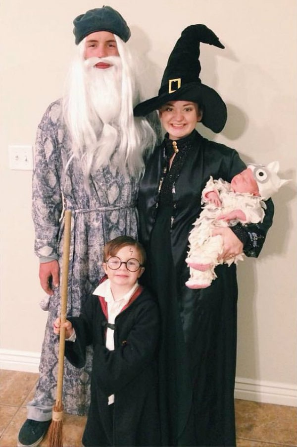 DIY Harry Potter family costumes for Halloween