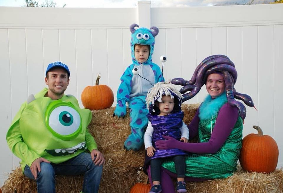 DIY Monsters Inc family Halloween costumes