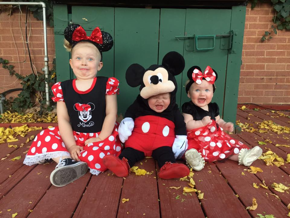 Mickey and Minnie kids Halloween costumes