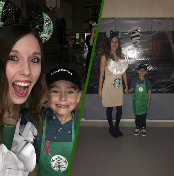 Starbucks mommy and me Halloween costume