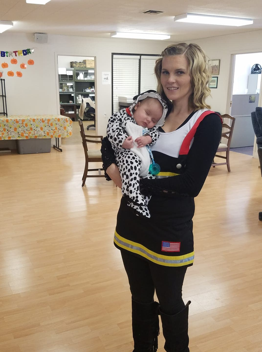 Fireman and dalmatian mommy and me Halloween costume