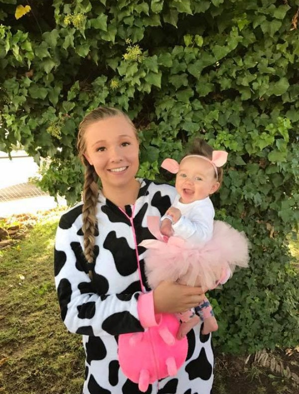 Cow and pig mommy and me Halloween costume