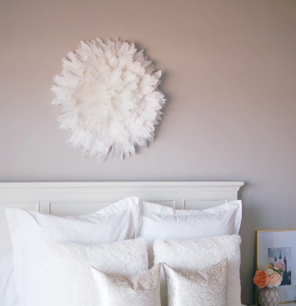 This Juju hat DIY decor is perfect above bed, in a bedroom, living room, nursery or fireplace! My tutorial for how to make a Juju hat is super easy and cheap and only takes an hour!