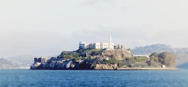 Alcatraz on San Francisco bus tour.