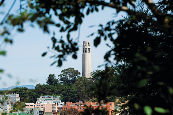 Coit Tower on San Francisco tour.