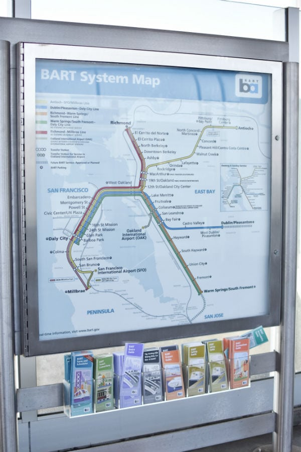 The Bart System Map