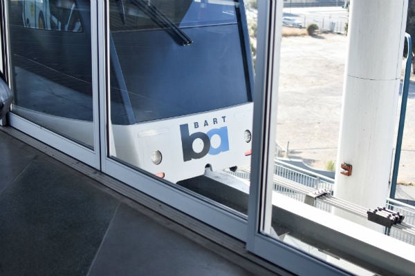 BART transit train to explore San Francisco on a budget