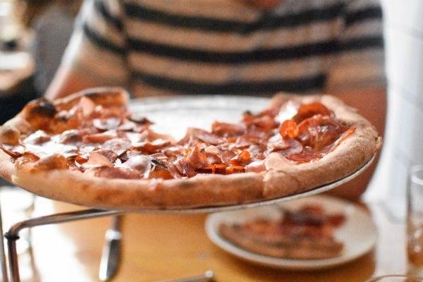 Delicious pizza at Delarosa in San Francisco!