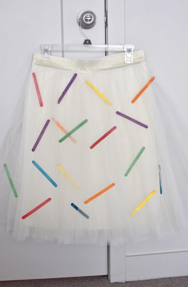 Cute sprinkles costume skirt
