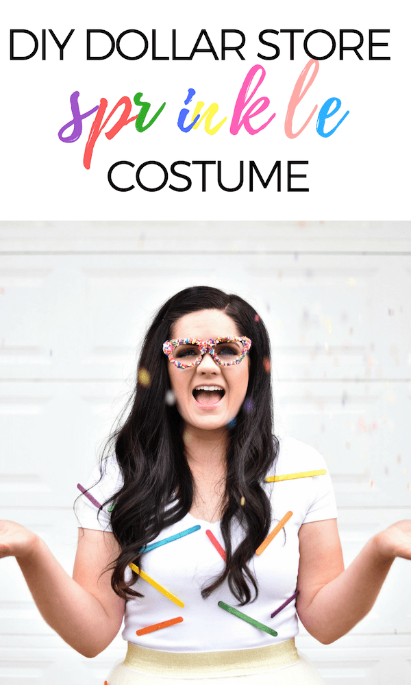 Check out how I made an adorable last minute DIY costume with items from Dollar Tree! It's an easy and simple Halloween costume idea that only costs $3!