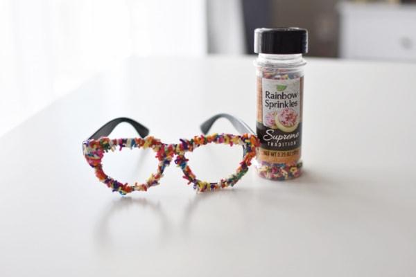 Rainbow sprinkles make cute sprinkles glasses for costume