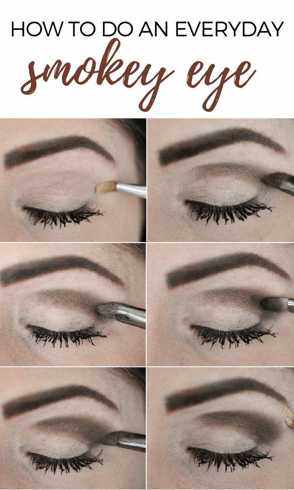 Check out this easy smokey eye tutorial using only drugstore makeup! It's the perfect everyday look for moms!