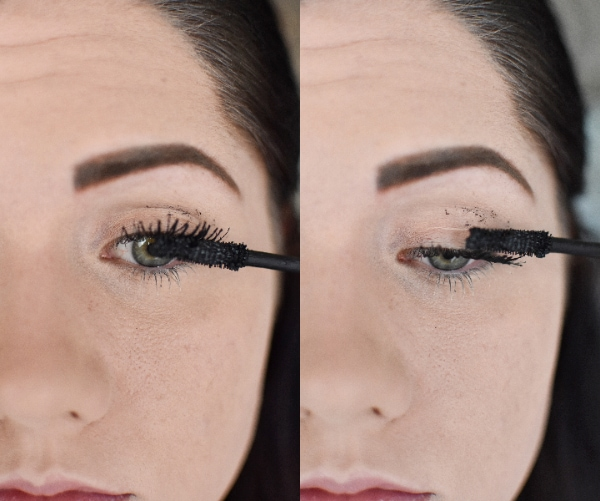 Woman applying mascara for an easy smokey eye tutorial