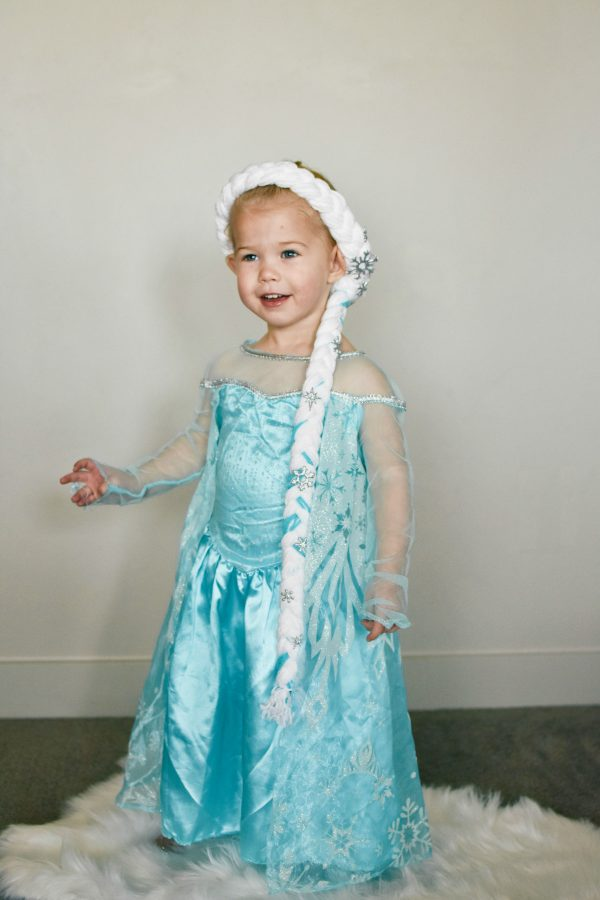 Elsa hair braid and costume for child