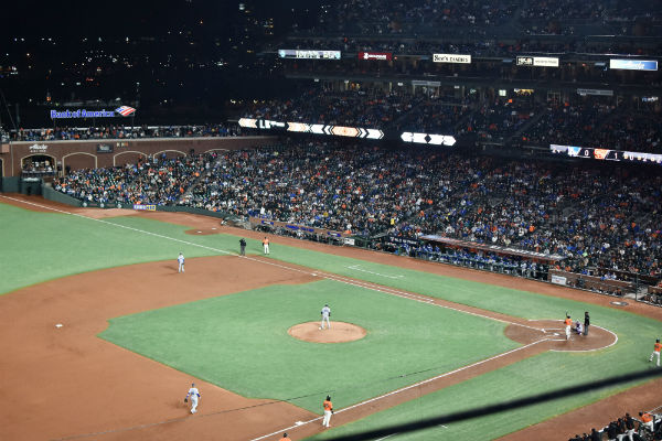 Baseball diamond in AT&T Park