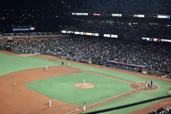 Baseball diamond in AT&T Park