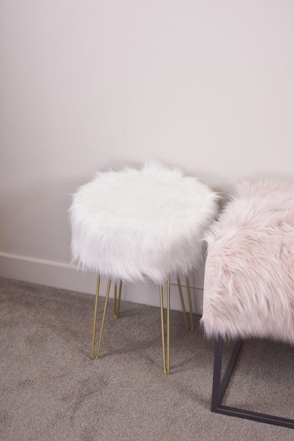 Faux fur stool from Tuesday Morning