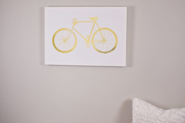 Gold bicycle print from Tuesday Morning