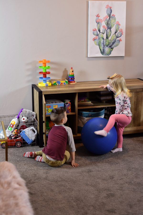 Playroom decor with Tuesday Morning finds