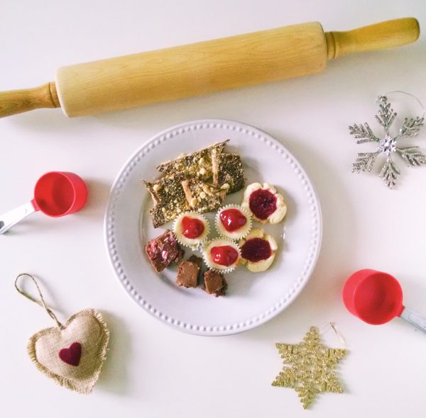 Plate of the best Christmas desserts
