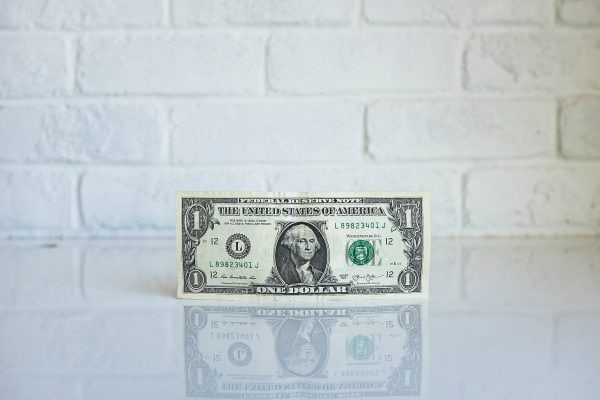 Dollar bill and how it's affected by the 2018 tax changes from the IRS