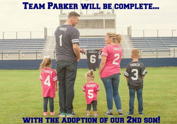 Adoption baby announcement idea