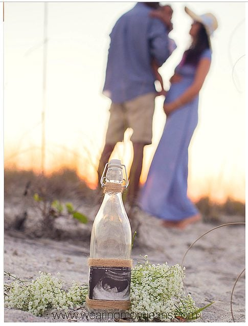 Beach baby announcement idea