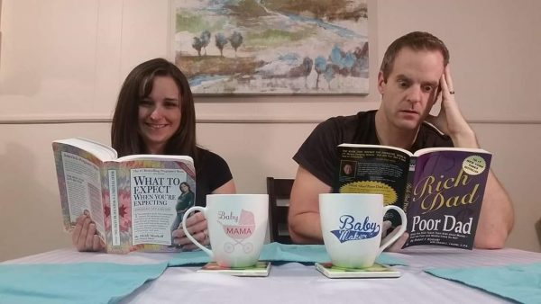 Family announces pregnancy with a book