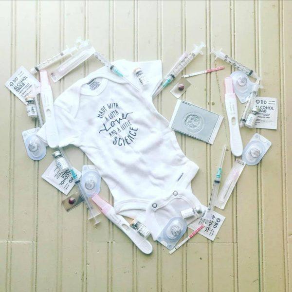 Infertility baby announcement