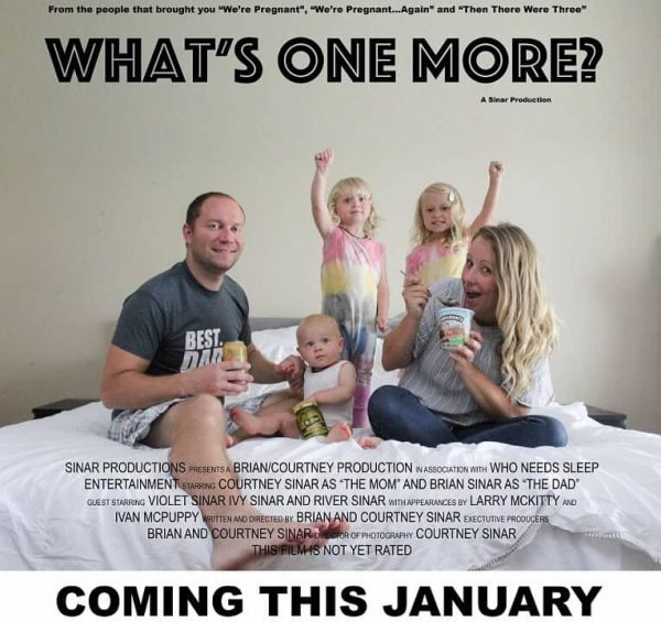 Movie poster baby announcement idea