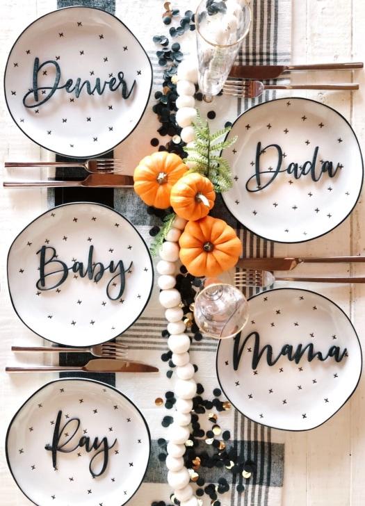 Thanksgiving baby announcement idea