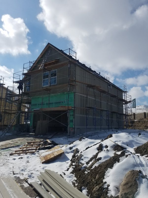 The exterior goes on a new house