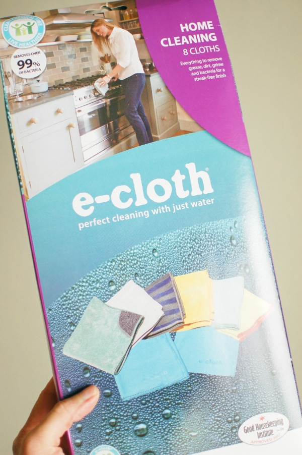 Spring cleaning tips using e-cloths instead of chemicals.